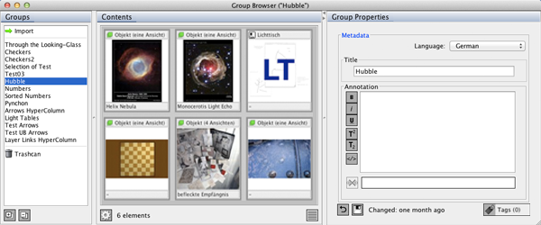 The Group Browser Window