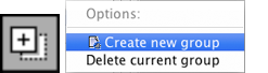 Create New Group button and context menu