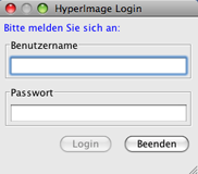 HyperImage Login Window