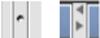 Tipp: Verändern Sie die Größe der einzelnen Bereiche, indem Sie auf einen der Punkte in der Bereichsmitte klicken und ihn nach links oder rechts ziehen. Sie können den Bereich 'Gruppe Eigenschaften' oder 'Inhalt' auch auf den jeweils anderen Bereich ausdehnen indem Sie auf einen der Pfeile oben zwischen den Bereichen klicken. (Dies entspricht der Funktion 'Metadaten ausblenden'). Klicken Sie erneut auf einen der Pfeile im oberen Bereich, um wieder alle drei Bereiche sehen zu können. Diese Funktion steht Ihnen in allen drei-geteilten Fenstern zur Verfügung.