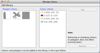 Project Colours and Polygon Library