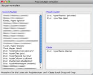 In diesem Fenster ist sichtbar, welche Rolle die Nutzer im aktuellen Projekt haben.