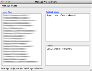 Manage Project Users
