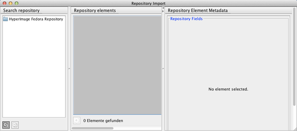 Repository Import Window